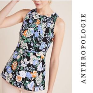 Anthropologie Floral Maeve Brenner Peplum Top XS